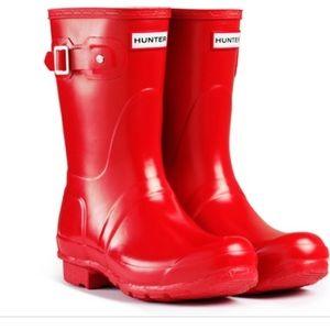 Short Gloss Hunter Rain Boot